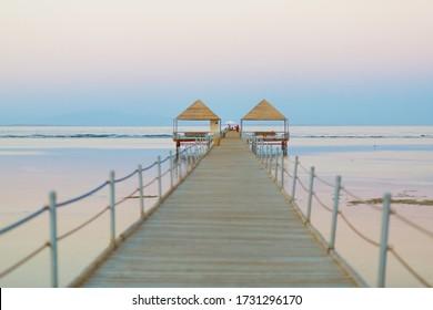 Evening pier in Egypt. Sharm-EL-Sheikh