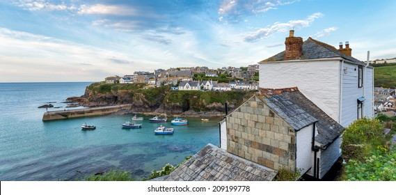 Evening at Port Isaac a fishing village on the north coast of Cornwall that has featured in many films and TV shows