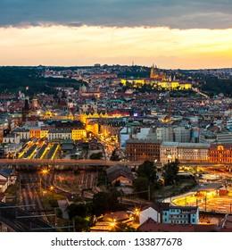 Evening Prague scene