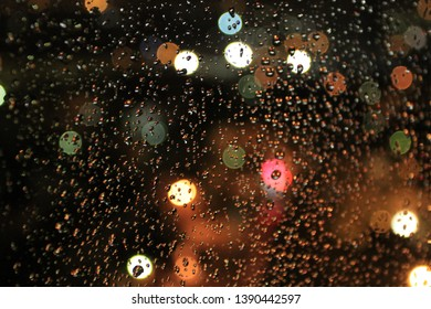 Evening Rain City Lights Capital Ankara Stock Photo (Edit