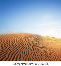 evening sand desert scene