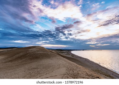 Evening scenery of the Tottori Sand Dunes