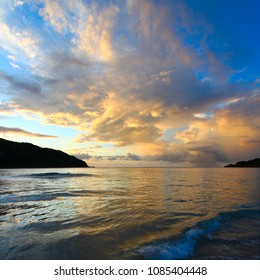 Evening sets in over Brewers Bay on Tortola British Virgin Islands