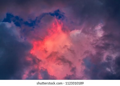 Evening sky with amazing colorful sunset red cloud on twilight. Sky clouds.Sky with clouds weather nature cloud blue