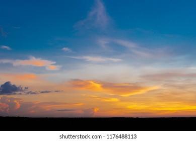 Evening Sky with beautiful sunset