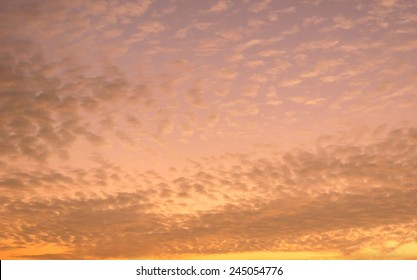 The evening sky and clouds