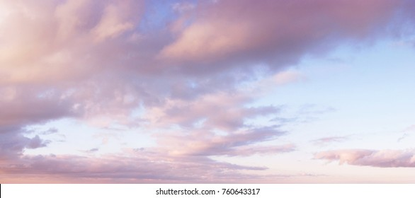 Evening sky with clouds. Golden hours sky