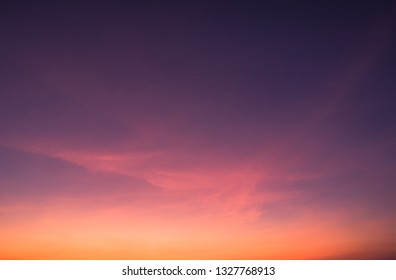 Evening sky on twilight in the evening,Dusk