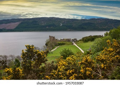 Evening sky over the Loch Ness River in Scotland - Shutterstock ID 1957033087
