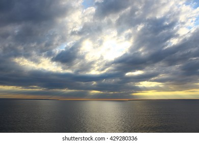 Evening sky at the sea