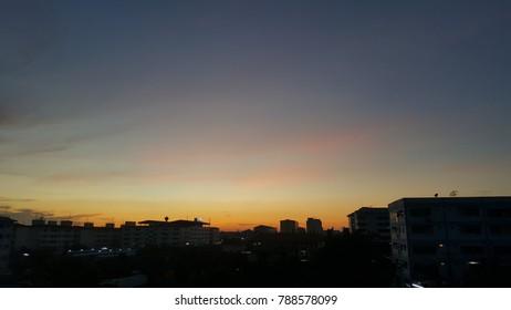 evening  sky  sunset  light