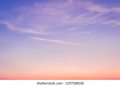 Evening Sky,Amazing colorful Idyllic dusk cloud,Dramatic and Wonderful Sunrise on twilight,Dark blue sky Nature background,Colorful Cloud on Sunset,Majestic sunlight.