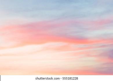 Evening Sky,Amazing Sunset Cloud Background,Fantastic Nature,Dramatic bright Sunrise and beautiful Cloudy Twilight on Summer Sky,Beautiful Color Idyllic Cloud,Fantastic Dusk sky on sundown.