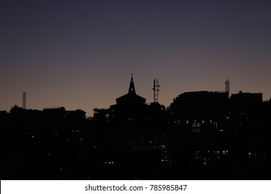 Evening skyline of Aizawl city, Its capital of Mizoram state of north east of India.