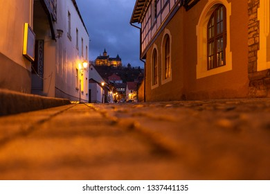 In the evening, in the streets of Wernigerode