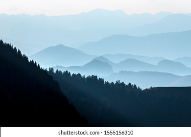 evening sunset time mountains image
