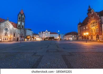 Evening in Tarnowskie Gory. Tarnowskie Gory,  Silesia, Poland. - Shutterstock ID 1850692201