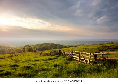 Evening time at Dover's Hill near Chipping Campden, Cotswolds, Gloucestershire, England.