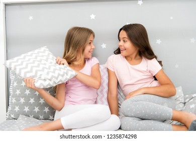 c83f1ef5bc Evening time for fun. Sleepover party ideas. Girls happy best friends or  siblings in