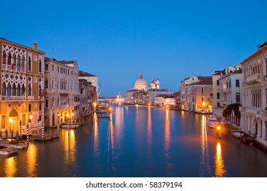 Evening time at grand canal,venice, italy