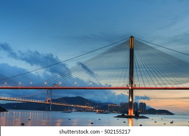 Evening at Ting Kau Bridge