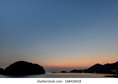 Evening of Tomonoura (in Fukuyama City, Hiroshima Prefecture, Japan)