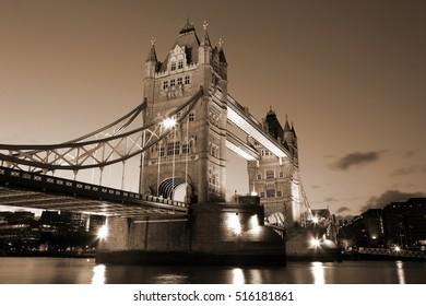 The Evening Tower Bridge, London, UK