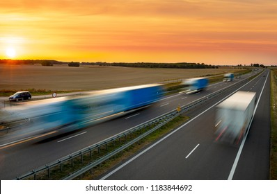 evening traffic of cars on the highway