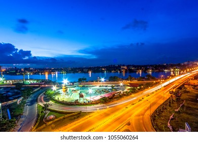 Evening Traffic on Falomo Bridge, Victoria Island, Lagos.