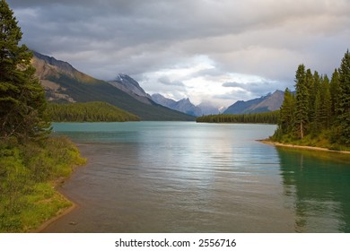 Evening Tranquility at Maligne Lake (Canadian Rockies)