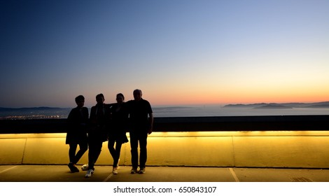 Evening twilight in Berkeley on April 29, 2017, California USA