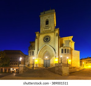 Evening view of   Cathedral of San Juan de Albacete