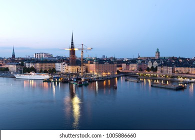 Evening view from Center of Stockholm-Sweden