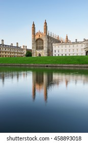 Evening view of Clare College in Cambridge, UK
