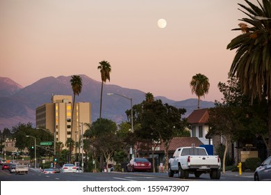 Evening view of Downtown San Bernardino, California.