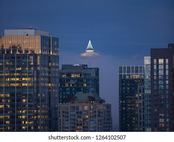 Evening view of downtown Seattle, WA