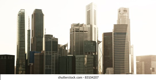 A evening view of a generic city view