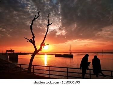 Evening View at Jinnah Barrage Pakistan