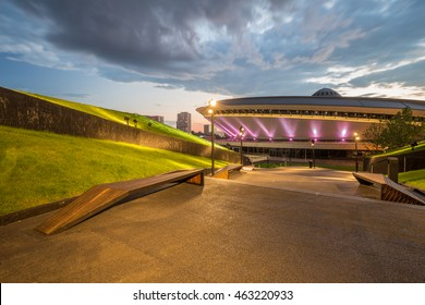 Evening view of Katowice Poland