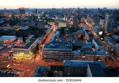 Evening view of Kiev city