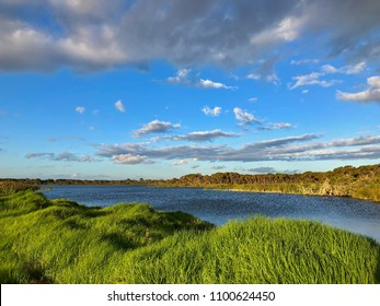 Evening view of Lake Seppings in Albany during summer in Southern tip of Western Australia