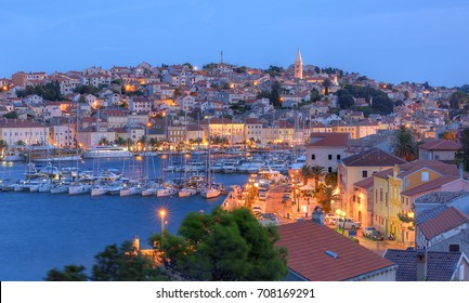 Evening view of Mali Losinj, Croatia