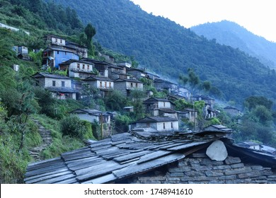 Evening view of Narchyang village - Myagdi District, Western Nepal.