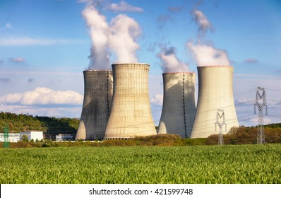 Evening view of Nuclear power plant
