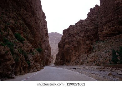 Evening view on the Todra gorge, Morocco