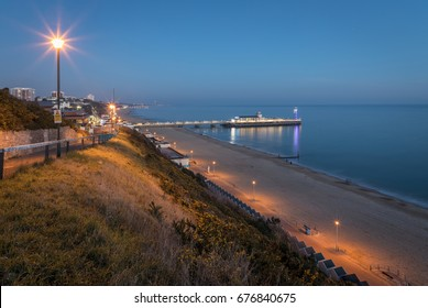 Evening view over Bournemouth pier