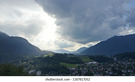 Evening view from the sight of Bad Ischle