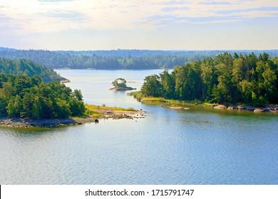 Evening view of Turku Archipelago, Finland.