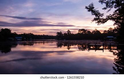 Evening views of the bayou in Florida