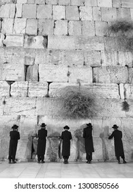 The evening at the Western Wall, Jerusalem